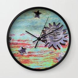 Sun, Moon & Stars Wall Clock