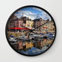 Honfleur Pretty As A Postcard Wall Clock