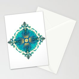 Azulejos - Portuguese Tiles Aqua Stationery Cards