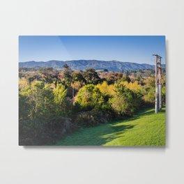River Bank Trees Metal Print