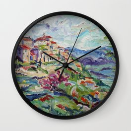 Gordes in the Luberon Wall Clock