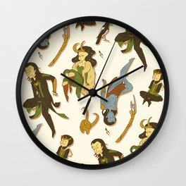 All the Lokis Wall Clock