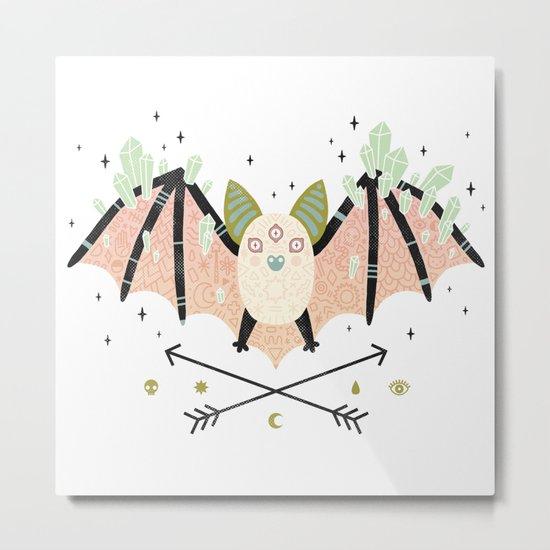 Crystal Bat Metal Print