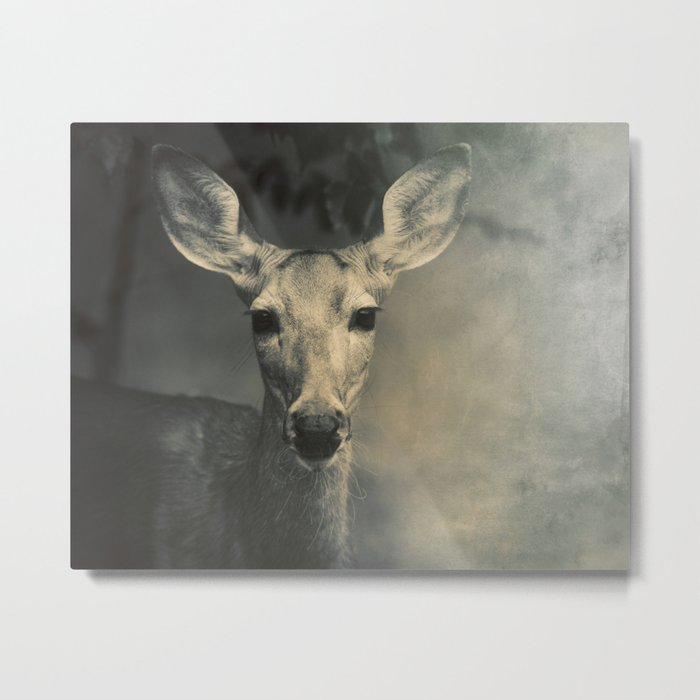 GOOD MORNING, DEER Metal Print