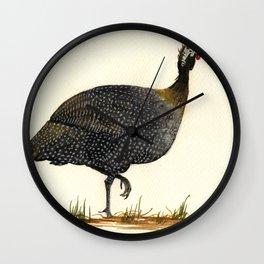 Guineal fowl Wall Clock