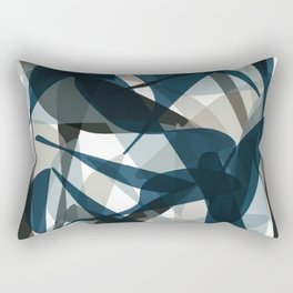 Abstract Whale Monotone Rectangular Pillow
