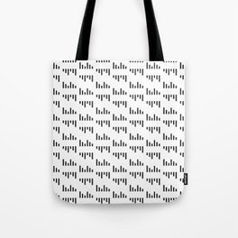 Parallel Lines Black and White #1 Tote Bag