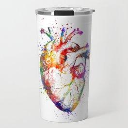 Heart Anatomy Art Heart Watercolor Art Anatomy Art Anatomical Heart Surgery Gift Medical Gift Travel Mug