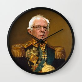Bernie Sanders 19th Century Painting Wall Clock