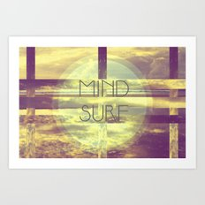 Mind Surf Art Print