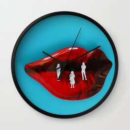 Lips and Ladies Wall Clock