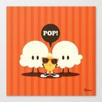 pop art Canvas Prints featuring Pop! by Steph Dillon