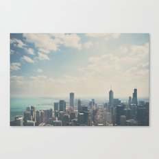 Looking down on the city ... Canvas Print