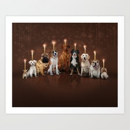 Hot Dog, It's Hanukkah! Art Print