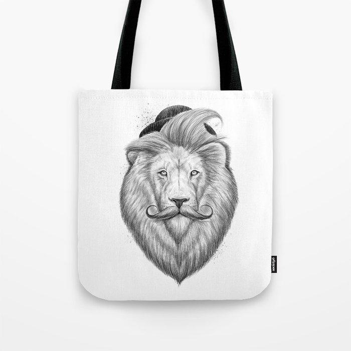 bearded lion Tote Bag