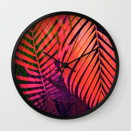 COLORFUL TROPICAL LEAVES no8 Wall Clock