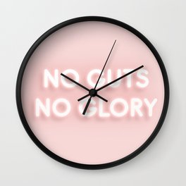 No Guts No Glory / Neon Lights Wall Clock