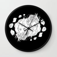 mermaids Wall Clocks featuring Mermaids by viviennart
