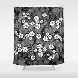 Abstract floral background Shower Curtain