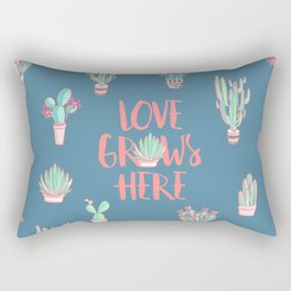 Love grows here Rectangular Pillow