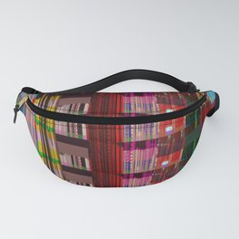 Glitch Abstract Cityscape Fanny Pack