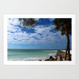 A Tropical Beach Art Print