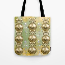 The Joy of Christmas - Gold Tote Bag