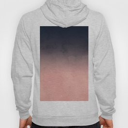 Modern abstract dark navy blue peach watercolor ombre gradient Hoody