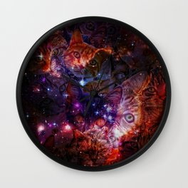 Kitty Galaxy Wall Clock