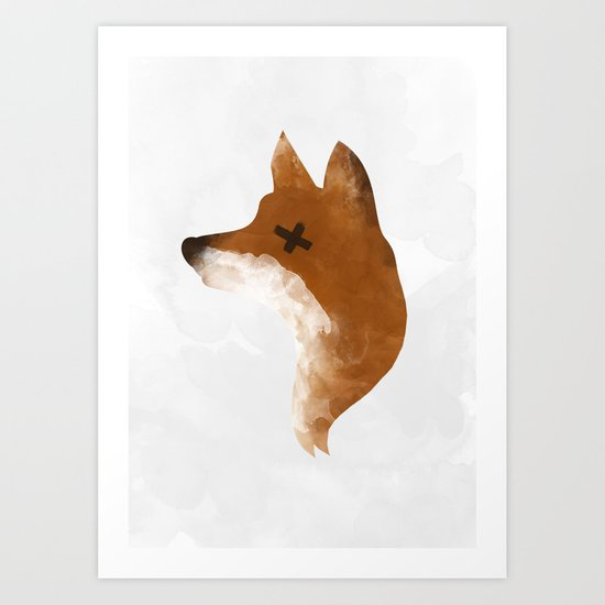silent fox Art Print