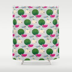 Traditional Japanese summer pattern_A Shower Curtain