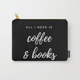 Coffee and Books Carry-All Pouch