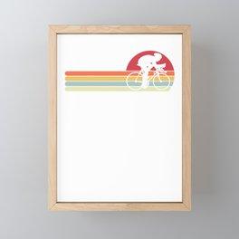 Bike Bicycle Retro Race City Cyclist Cool Vintage Framed Mini Art Print