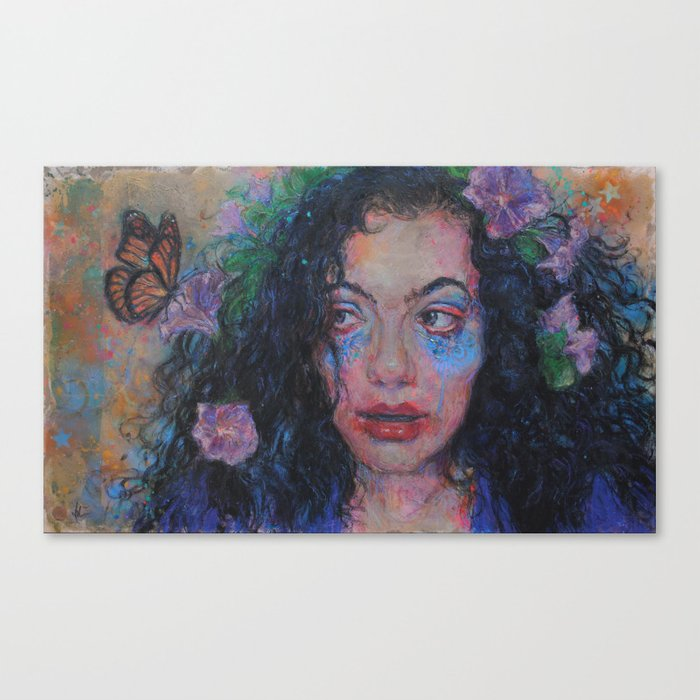 Incognito Witch Selfie: Dana and Butterfly Canvas Print
