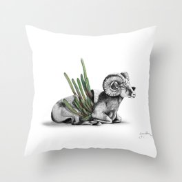 Bighorn Ram Throw Pillow