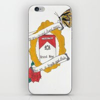 brand new iPhone & iPod Skins featuring Brand New by Sarah Hinds