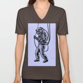 Vintage Deep Sea Diver Unisex V-Neck