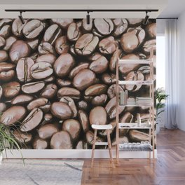 roasted coffee beans texture acrstd Wall Mural