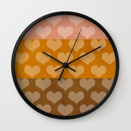 Patina Hearts Rose Gold Wall Clock