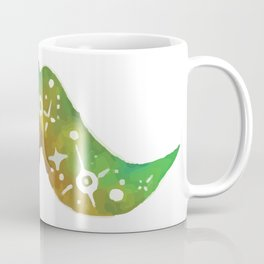 Green Space Mustache Coffee Mug