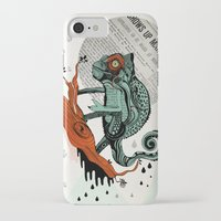 chameleon iPhone & iPod Cases featuring CHAMELEON by taniavisual