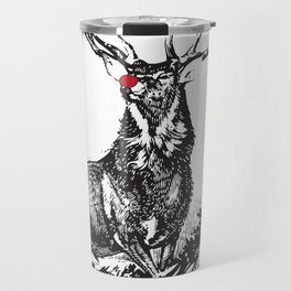 red nose stag Travel Mug