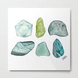 Illuminated Structure: Greens Metal Print