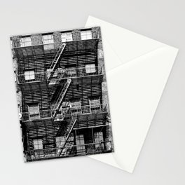 Fire escapes at noon Stationery Cards