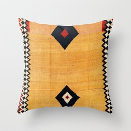 Qashqa'i Fars Southwest Persian Kilim Print Throw Pillow