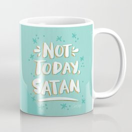 Not Today, Satan – Mint & Gold Palette Coffee Mug