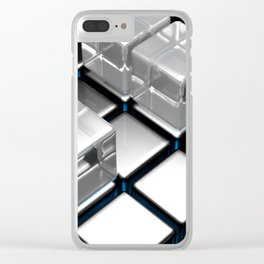 Abstract cubes pattern Clear iPhone Case