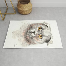 Scottish Fold Cat Rug