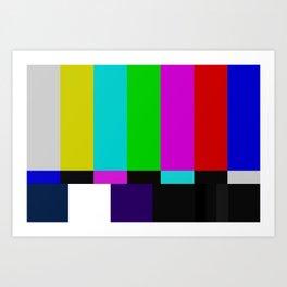 TV bars color testTV bars color test Art Print