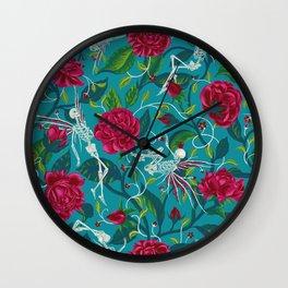 Death of Summer (carmine and blue) Wall Clock